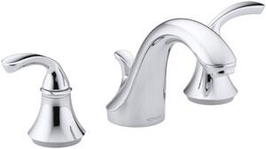 KOHLER Forte® Two Handle Widespread Bathroom Sink Faucet in Vibrant Brushed Nickel K10272-4-BN