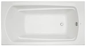 Signature Hardware Bradenton 60 x 32 in. Soaker Drop-In Bathtub with End Drain in Biscuit MIRBDS6032BS
