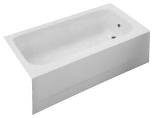 PROFLO® Folsom 54 x 30 in. Soaker Alcove Bathtub Right Drain in White PFB54RWH