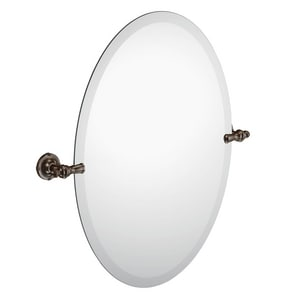 Moen Gilcrest® 26 x 2-97/100 in. Zinc-Glass Oval Tilt Mirror in Oil Rubbed Bronze MDN0892ORB