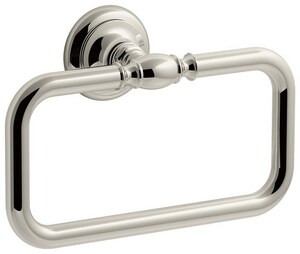 Kohler Artifacts® Rectangular Closed Towel Ring in Polished Chrome K72571