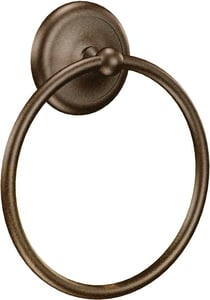 Moen Yorkshire Round Closed Towel Ring in Satin Nickel MBP5386SN
