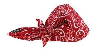 Ergodyne Evaporative Cooling Triangle Hat in Red E12325