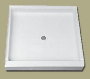Florestone Saflor® 54 in. Rectangle Shower Base in White F54341WH