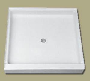 Florestone Saflor® 32 in. Square Shower Base in White F32321WH