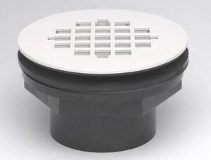 Oatey 101 PS Series 2 in. Push On Plastic Black Shower Drain O42089