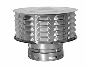 American Metal Products AmeriVent® 7 in. Type B Gas Vent High Wind Cap A7RCW