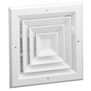 Hart & Cooley 4-Way Aluminum Ceiling Diffuser HA504MSWUU