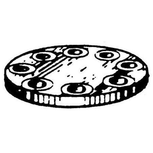 3/4 in. Flanged 150# Schedule 10 316L Stainless Steel Raised Face Blind Flange DS6LRFBFF