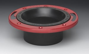 Oatey 3 in  Level Fit Closet Flange with Metal Ring - 43515