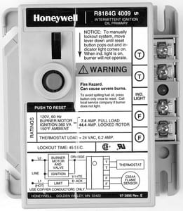Honeywell Home R8184 22.2A 240V Protective Relay HR8184G4066