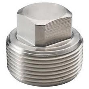 1/2 in. Threaded 150# 316 Stainless Steel Square Plug DS6TSPSP114D
