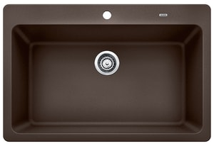 Blanco America Grandis™ 32 x 20-7/8 in. 1 Hole Composite Single Bowl Undermount Kitchen Sink in Cafe Brown B441602