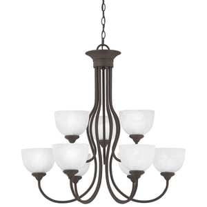 Thomas Lighting Tahoe 60W 9-Light Medium E-26 Base Chandelier in Painted Bronze TSL801663