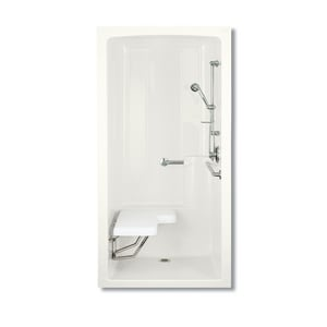 Kohler Freewill® 45 x 37 in. Shower with Left-Hand Freewill in White K12101-C-0