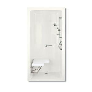 KOHLER Freewill® 45 x 37-1/4 x 84 in. Alcove Shower Unit in White K12101-C-0