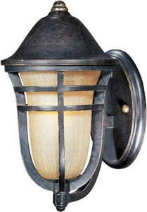 Maxim Lighting International 12 in 13W 1-Light Compact Fluorescent GU24 Outdoor Wall Lantern in Artesian Bronze M85402MCAT