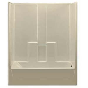 Aquarius Industries Luxury 60 in. Left-Hand Fiberglass Reinforced Plastic Tub and Shower in White AG6030TSLWH