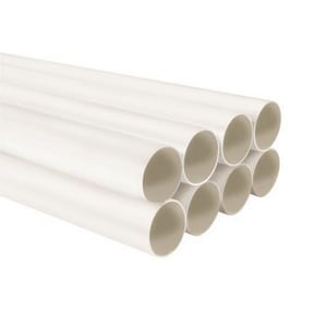 Broan 8 ft. x 2 in. Central Vacuum PVC Tube Section in White N3808