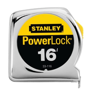 Stanley PowerLock® 3/4 in. x 16 ft. Tape Rule in Polished Chrome S33116