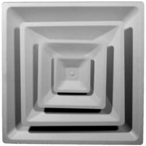 PROSELECT® Commercial 24 x 6 in. Ceiling Diffuser in White Steel PSHVD3U