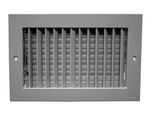 PROSELECT® 10 x 4 in. Steel Supply Register in White PSVAFW10