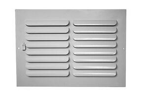 PROSELECT® 14 x 6 in. Residential Ceiling & Sidewall Register in White 1-way Steel PS1CW14U