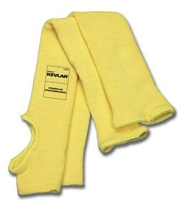 Memphis Glove Dupont™ 18 in. Kevlar Sleeve with Thumb Slot in Yellow One Size Fits All M9378TE