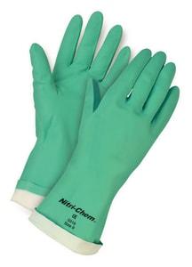 Memphis Glove Nitri-Chem™ 2XL Flock Lined Glove in Green M5321E