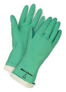 Memphis Glove Nitri-Chem™ Size 9 15 mil Nitrile Flocklined Glove M5319