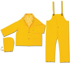 MCR Safety Large 3-Piece PVC Rainsuit in Yellow R2403
