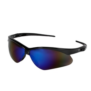 Jackson Safety Nemesis™ Safety Glasses In Blue Mirror/Black (Without Cord) J14481