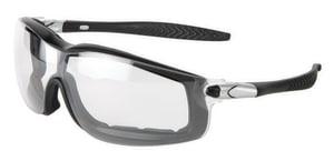 Crews Rattler™ Anti-Fog Black Frame Safety Glasses with Clear Lens CRT110AF