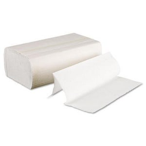250-Count 9-1/2 in. Bleached Towel Paper (Case of 16) BWK6200