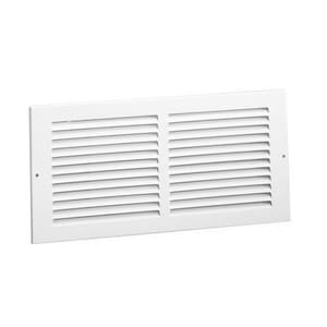 Hart & Cooley 14 x 14 in. Residential 1-way Return Grille in Bright White Steel H672W1414