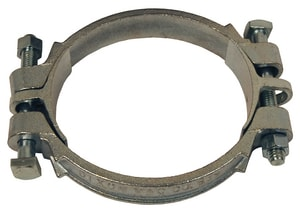 Dixon Valve & Coupling 4-1/4 - 4-15/16 in. Plated Malleable Iron Double Bolt Clamp D525