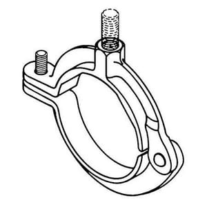 Cooper B-Line 1-1/2 in. Malleable Iron Split Hinged Extension Clamp BB3198HPLNJ