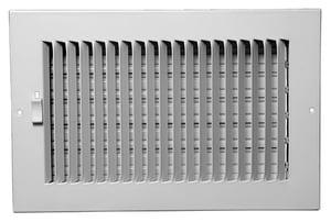 PROSELECT® 12 x 6 in. Steel Ceiling/Sidewall Register in White PS1WW12U