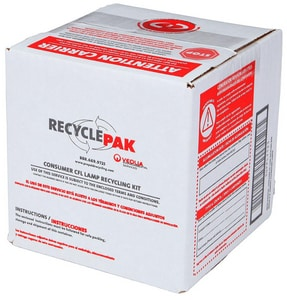 Veolia ES RecyclePak® 6 in. Consumer CFL Recycling Box VSUPPLY123