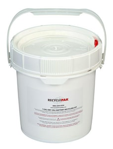 Veolia ES RecyclePak® 1 gal Dry Cell Battery Recycling Pail VSUPPLY069