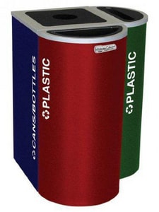 Ex-Cell Kaiser Kaleidoscope™ 24 gal Square Can and Bottle in Ruby Red ERCKDSQPRBX