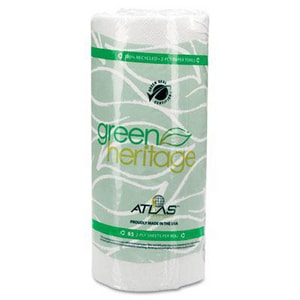 Atlas™ 11 in. 2-Ply Kitchen Roll Towel in White APM585GREEN