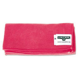 Unger SmartColor™ MicroWipe™ 16 x 16 in. Smart Color Micro Wipes in Red UNGMF40R
