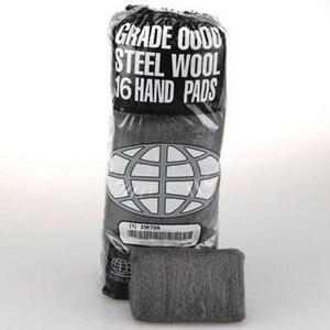 16-Pack Medium Fine Steel Wool Hand Pad  (Case of 12) G117003