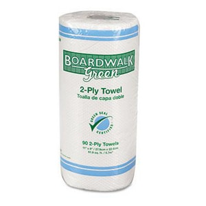 Boardwalk 9 in. 2-Ply Kitchen Roll Towel in Natural White (Case of 90) BWK21GREEN