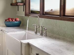 Brizo Artesso™ Two Handle Bridge Kitchen Faucet in Chrome D62525LFPC