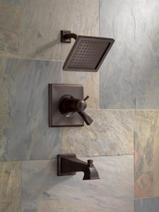 Delta Faucet Dryden™ Two Handle Single Function Bathtub & Shower Faucet in Brilliance® Stainless (Trim Only) DT17T451SS