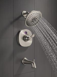 Delta Faucet Single Handle Multi Function Bathtub & Shower Faucet in Brilliance® Champagne Bronze (Trim Only) DT14403CZT2O