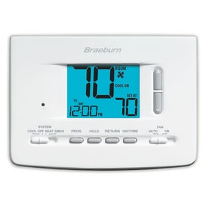Braeburn Systems Economy Series 7 Day 2 Heat / 2 Cool Programmable Thermostat BRA2220
