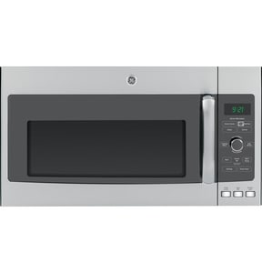 General Electric Appliances Profile™ 29-3/4 in. 2.1 cf Over The Range Microwave Oven in Stainless Steel with 10 Power Levels GPVM9215SFSS